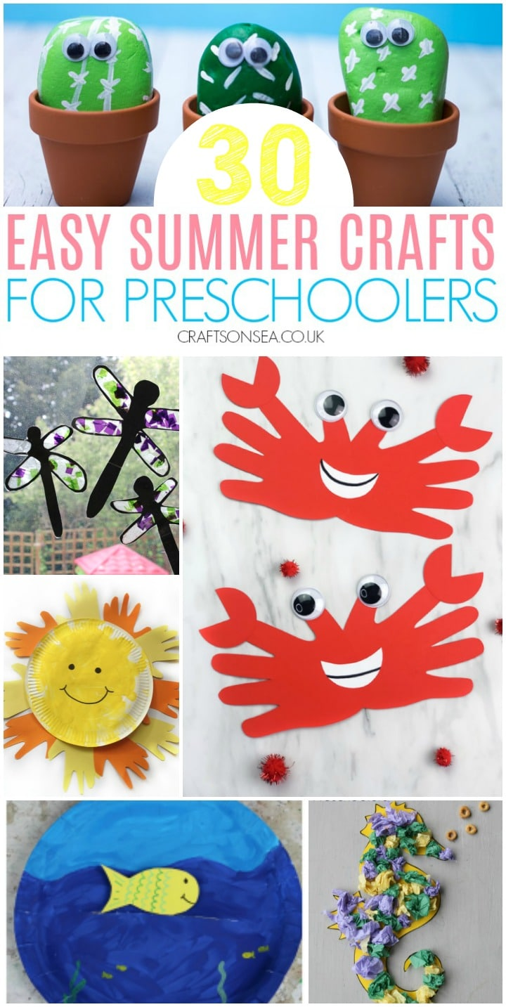 easy summer crafts for preschoolers