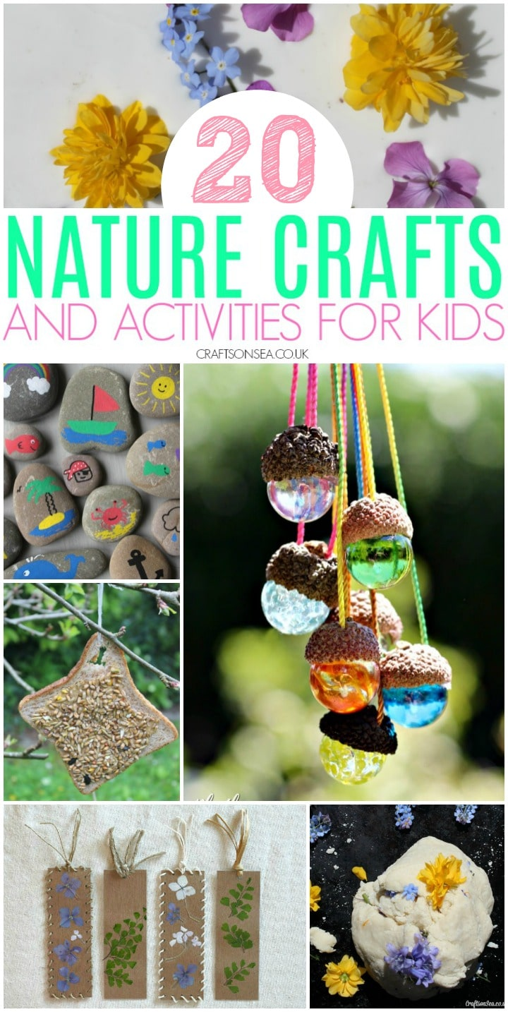 nature crafts for kids activities easy acorns painted rocks