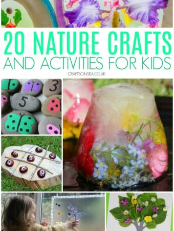 nature crafts for kids easy