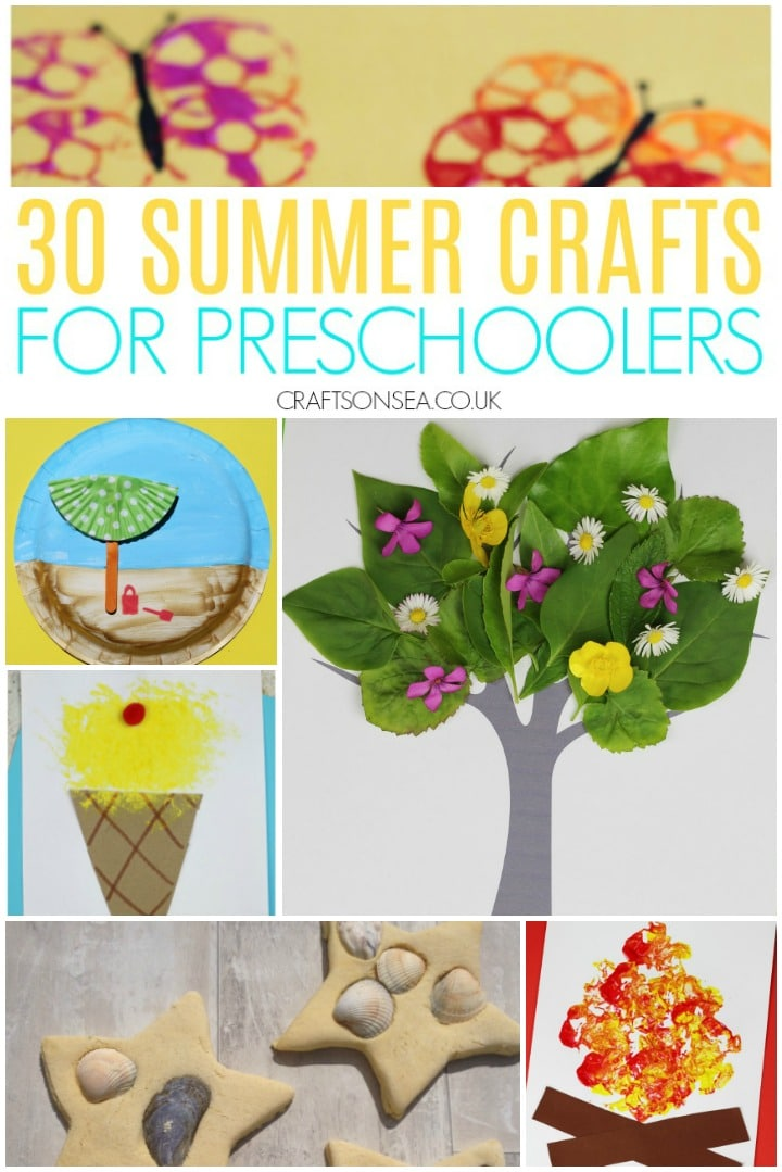 summer crafts for preschoolers easy beach crafts ice cream sea shells
