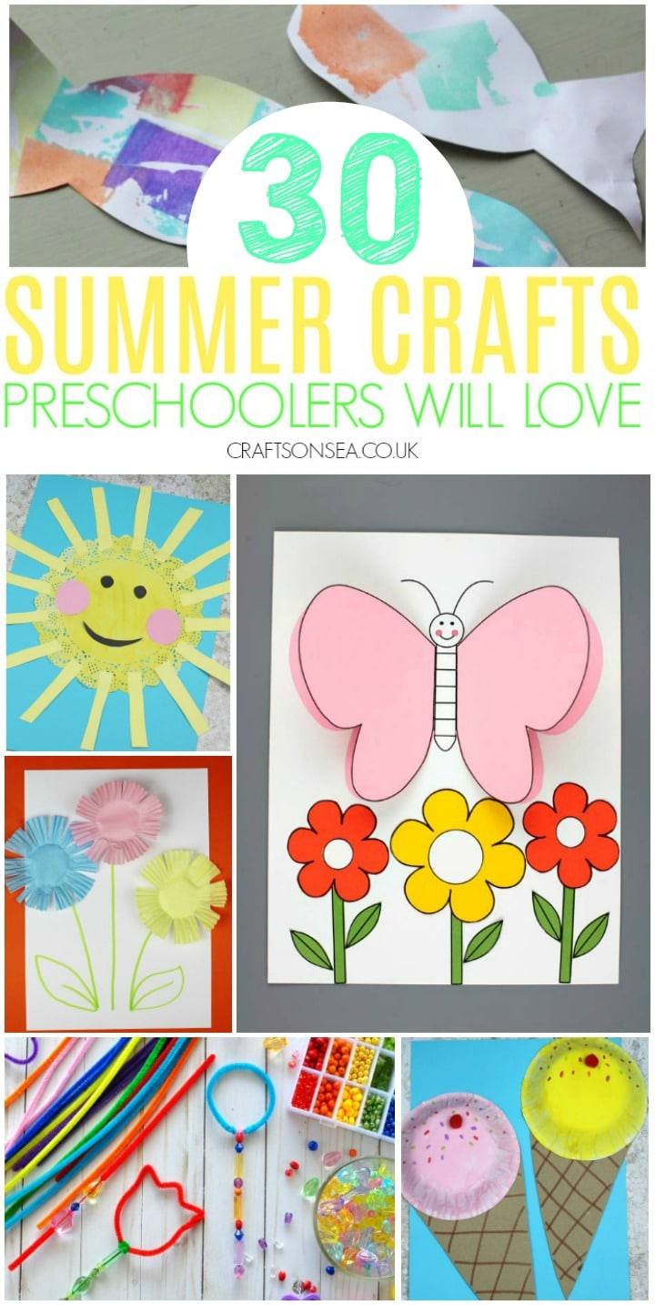 summer crafts for preschoolers fun