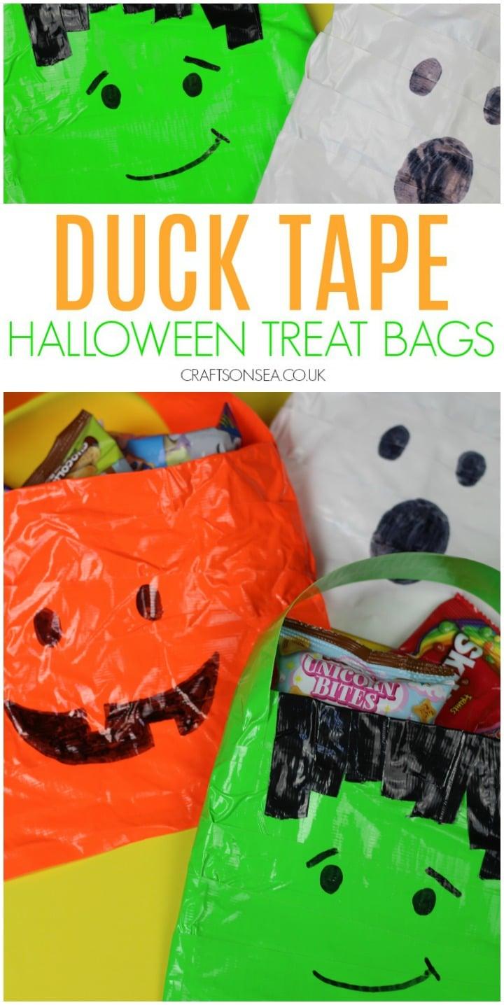 DIY Halloween treat bags - Frankenstein Ghost and Pumpkin
