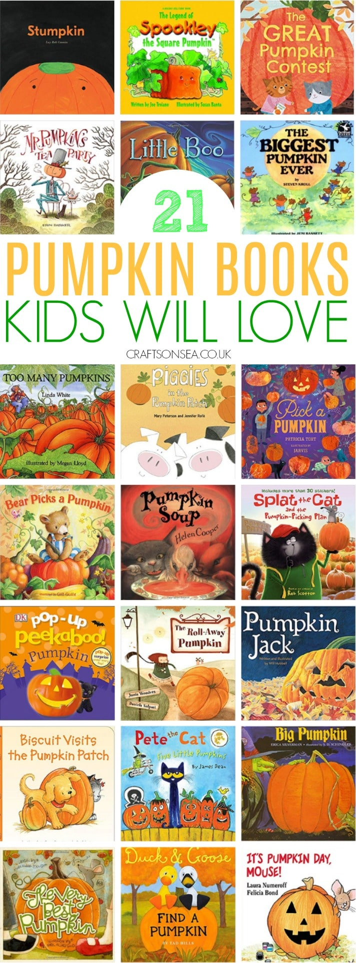 Pumpkin books for kids perfect for Halloween