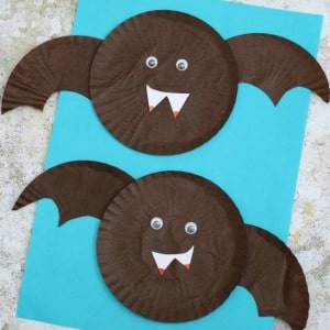 cupcake liner bat craft