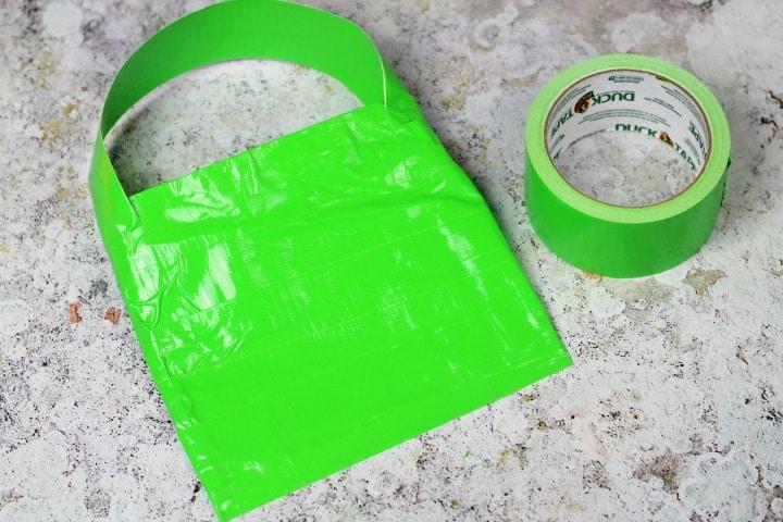 duck tape craft for halloween treat bag