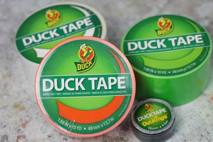 duck tape in halloween colours