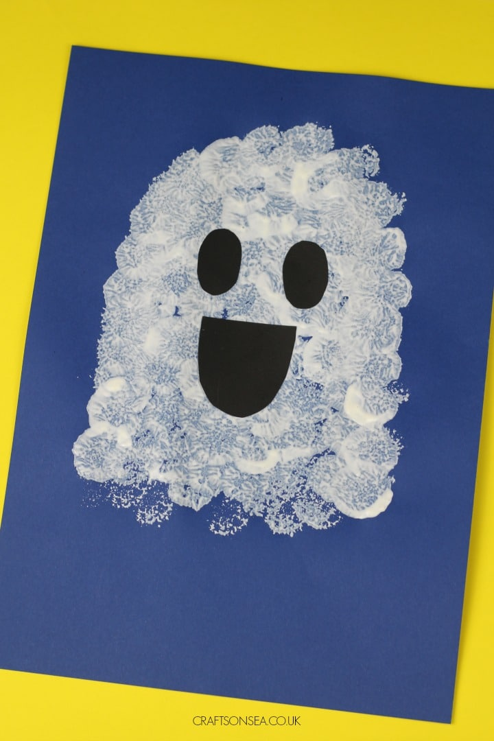 easy ghost craft for kids perfect for toddlers and preschool