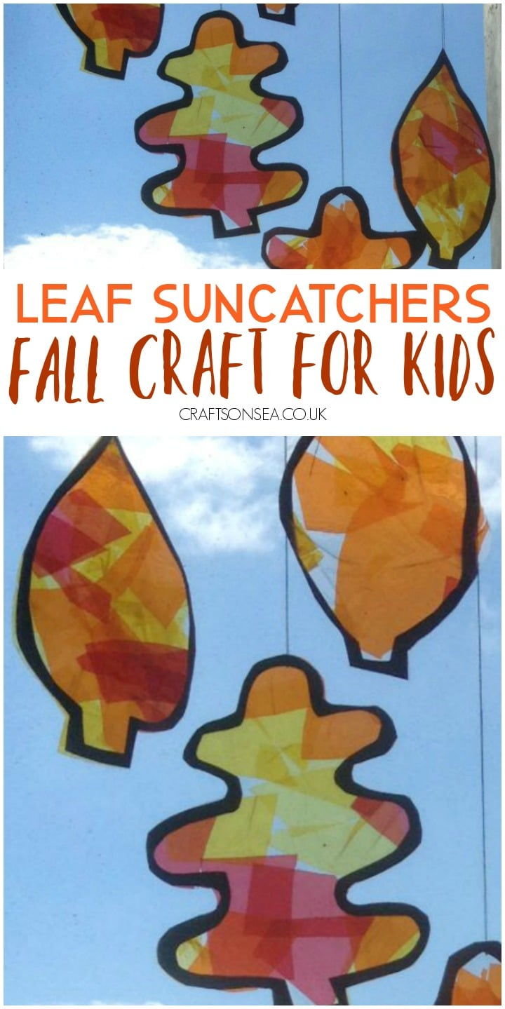 fall leaf suncatchers craft for kids