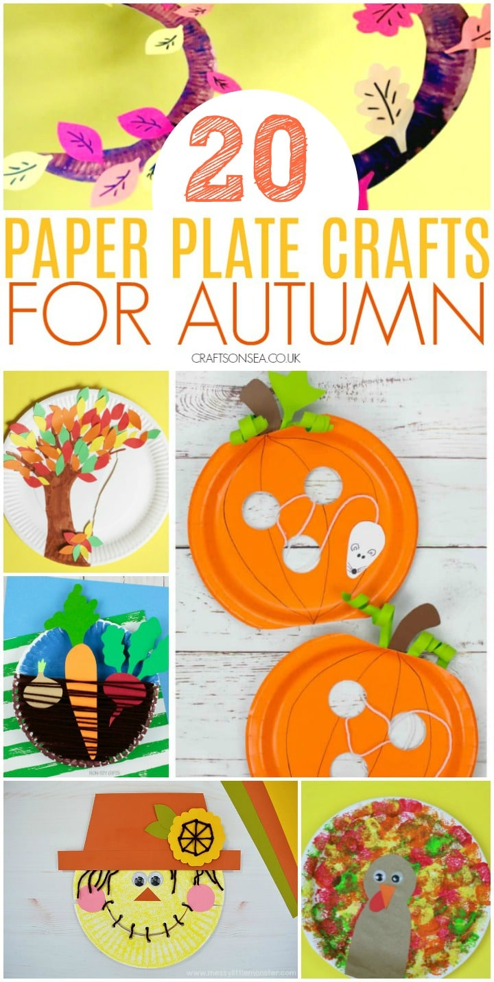 fall or autumn paper plate crafts for kids