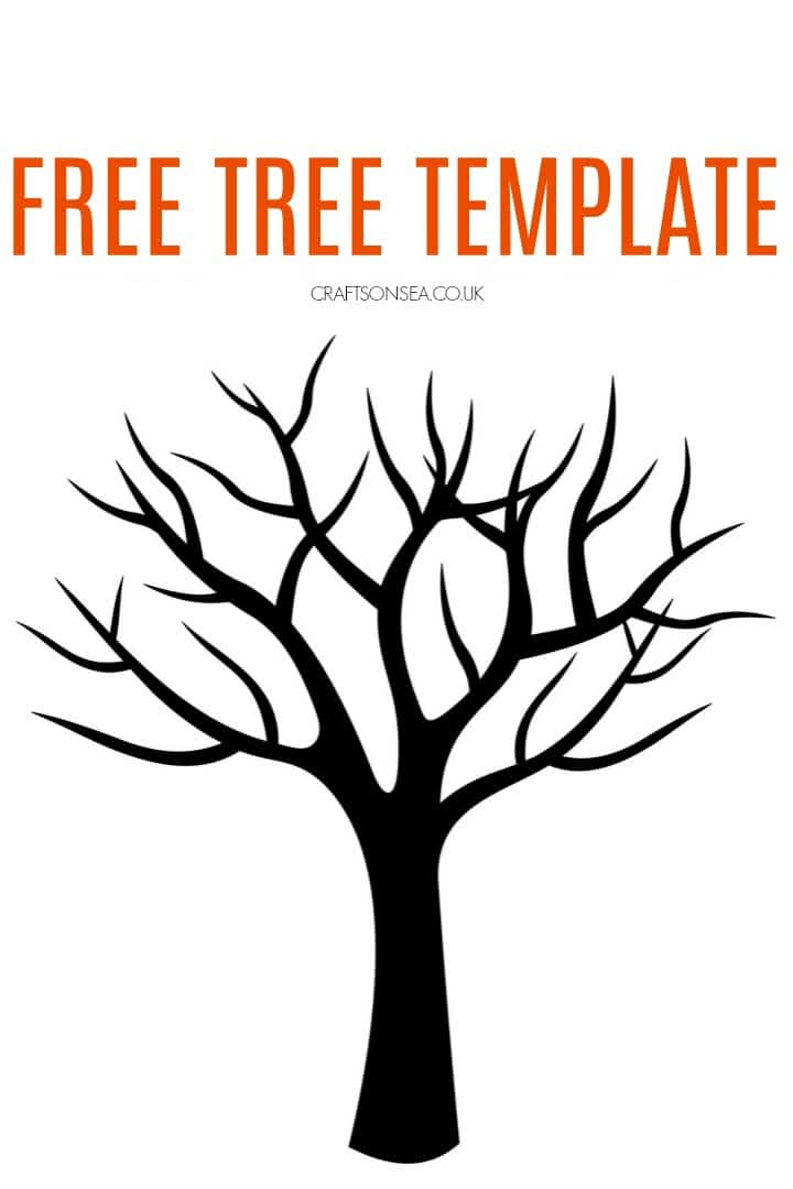 photograph regarding Tree Template Printable titled Cost-free Tree Template - Crafts upon Sea