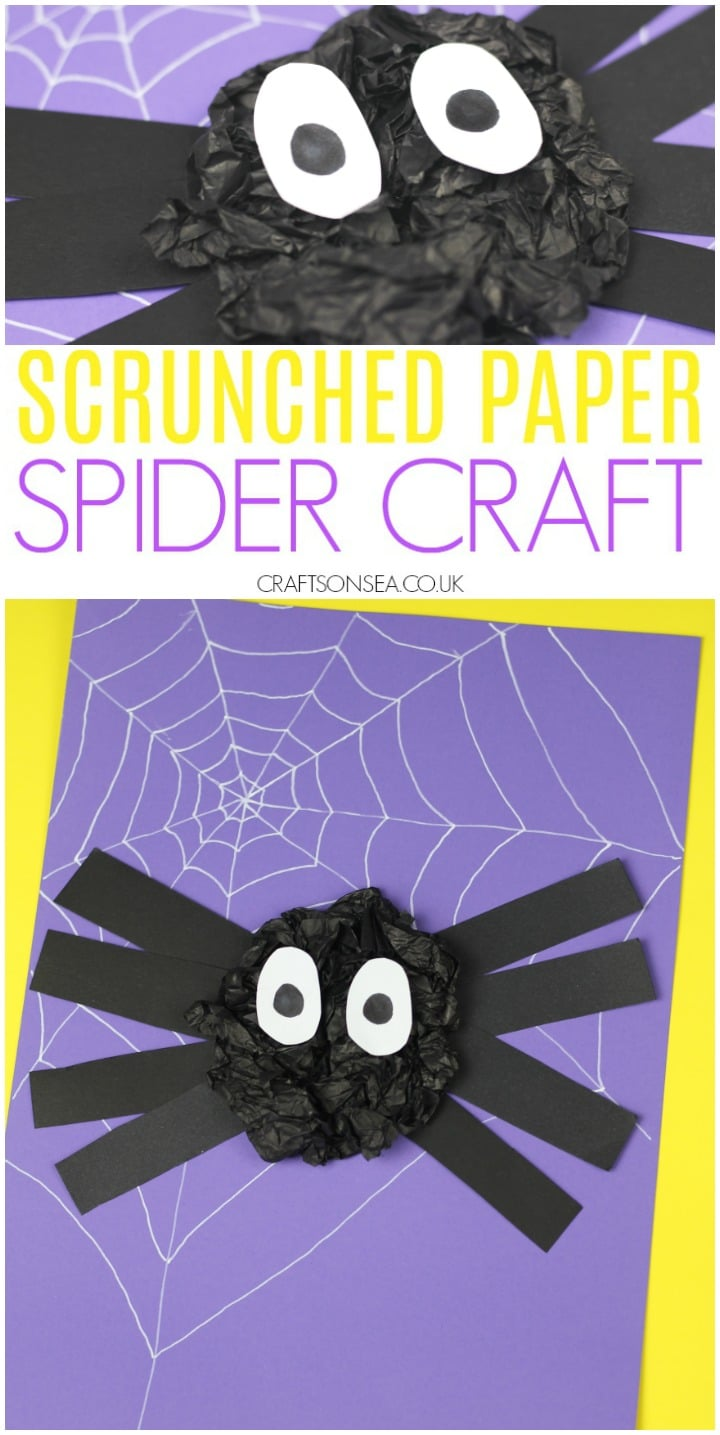 simple spider craft for kids suitable for preschool toddlers
