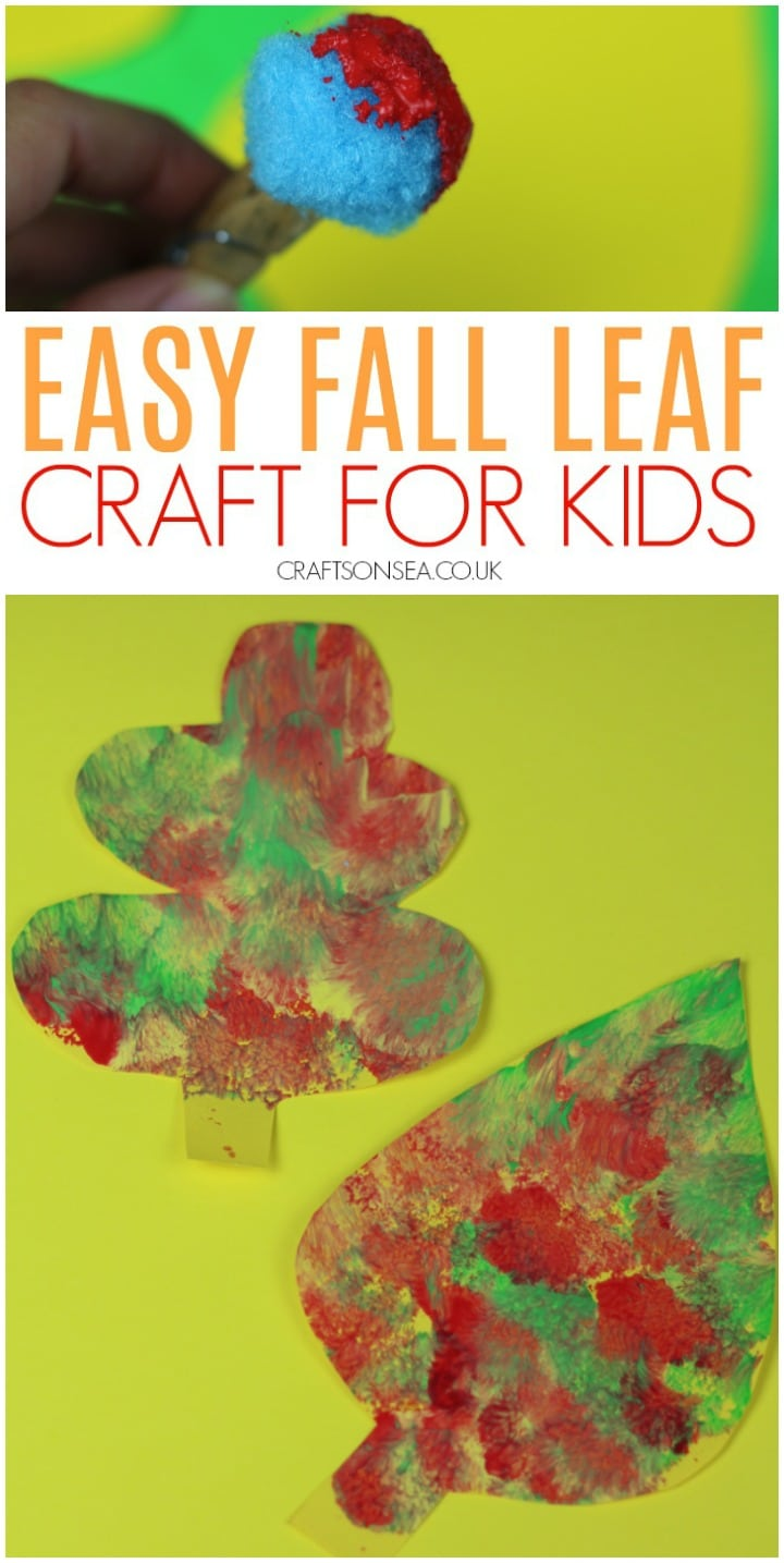 Fall leaf craft for kids, easy and suitable for toddlers and preschool