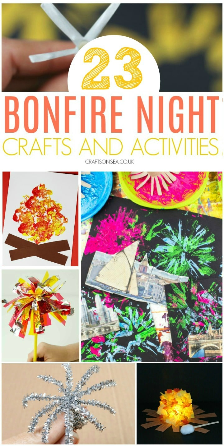bonfire night crafts and activities for kids easy and fun