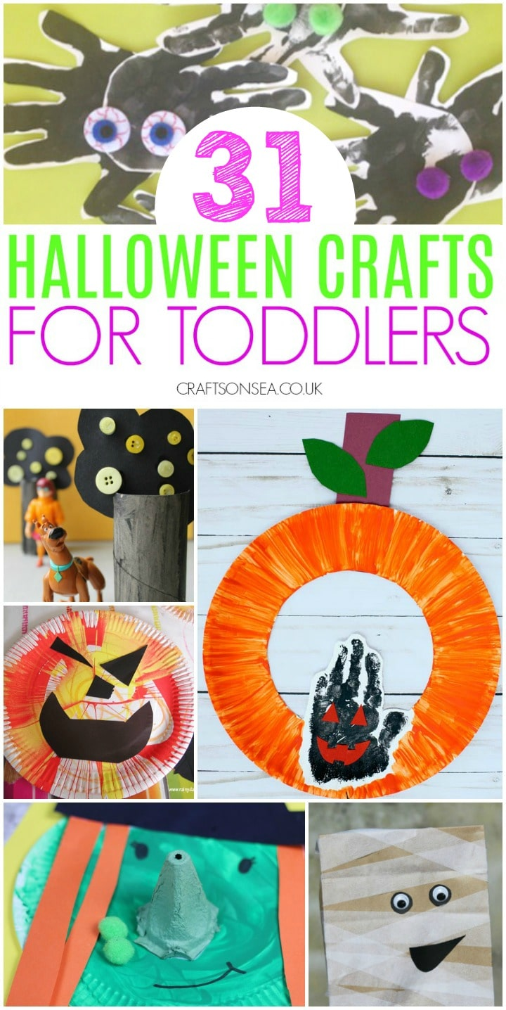 collage of halloween crafts for toddlers easy preschool pumpkin