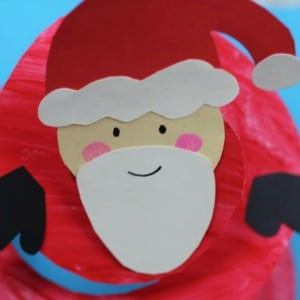 paper plate santa twirler craft for christmas