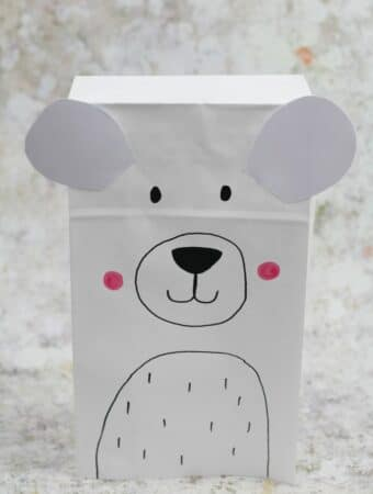 polar bear craft for kids suitable for preschool