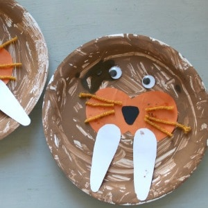 paper plate walrus craft for kids