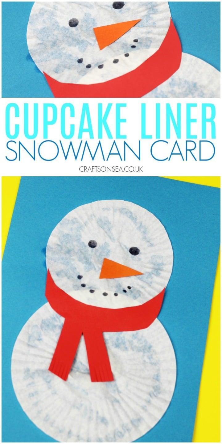 Christmas card kids craft snowman easy preschool