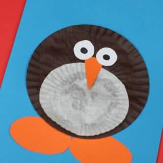 Christmas cards for kids easy penguin design