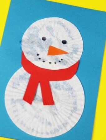 christmas cards for kids snowman design