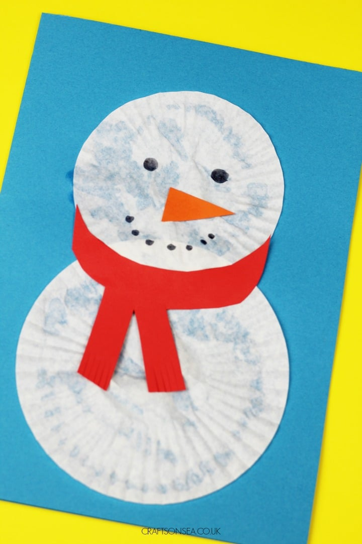 christmas cards for kids snowman design