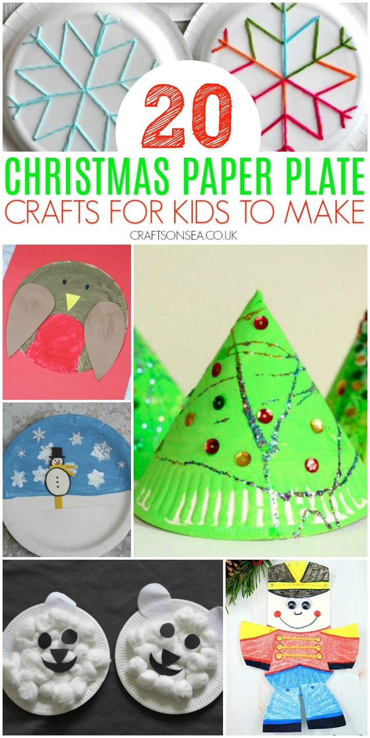 christmas paper plate crafts for kids to make easy