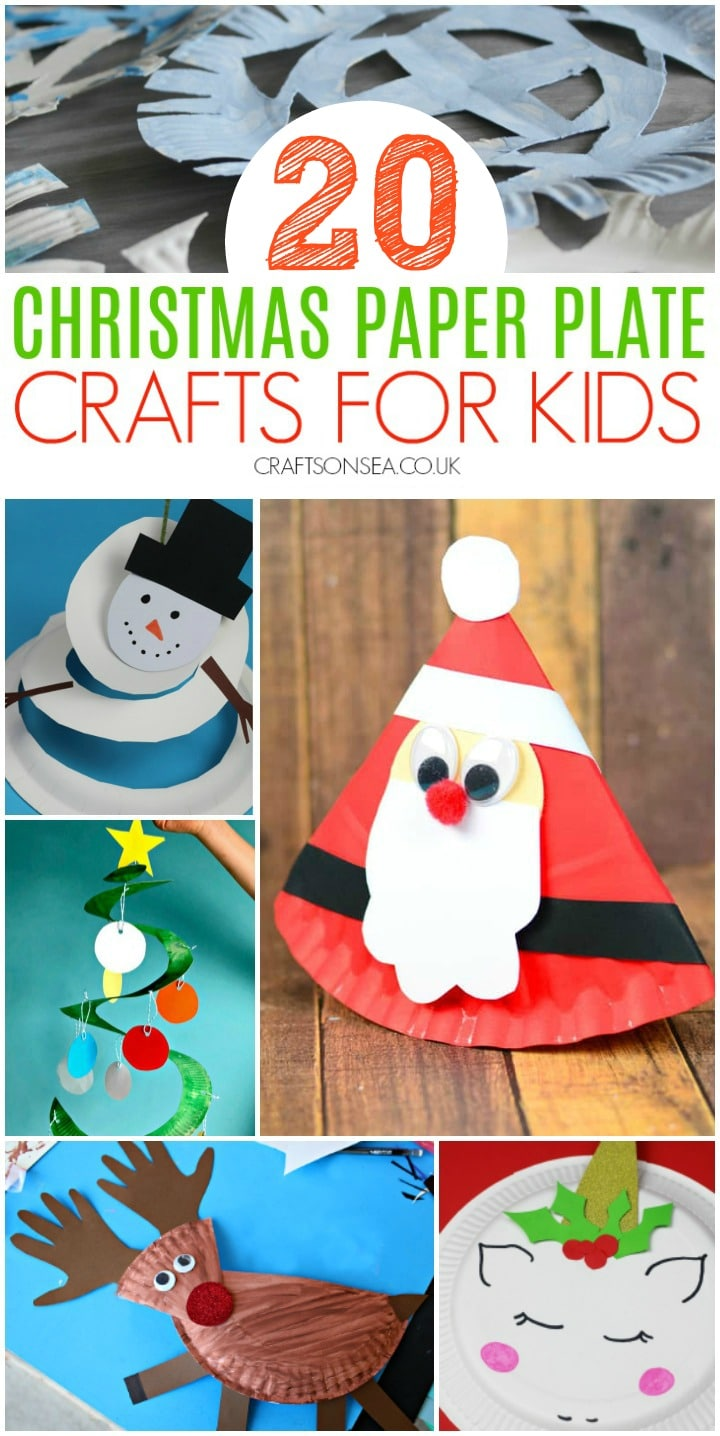 christmas paper plate crafts for kids to make