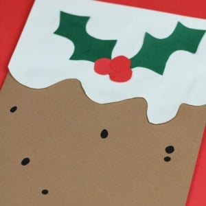 christmas pudding card for kids