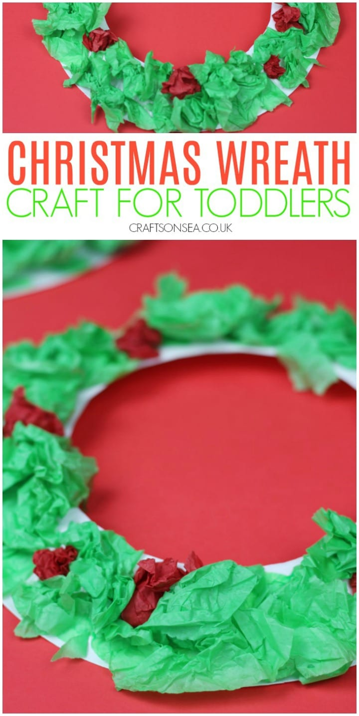 christmas wreath craft for toddlers preschoolers