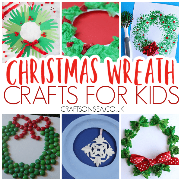 christmas wreath crafts for kids to make
