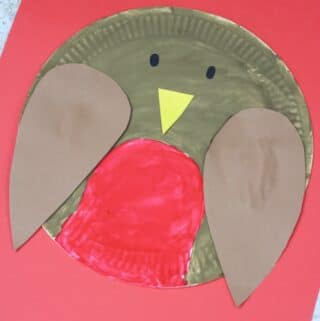 paper plate robin
