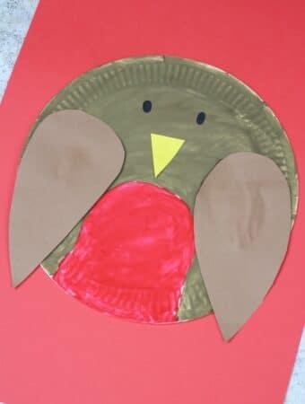 paper plate robin