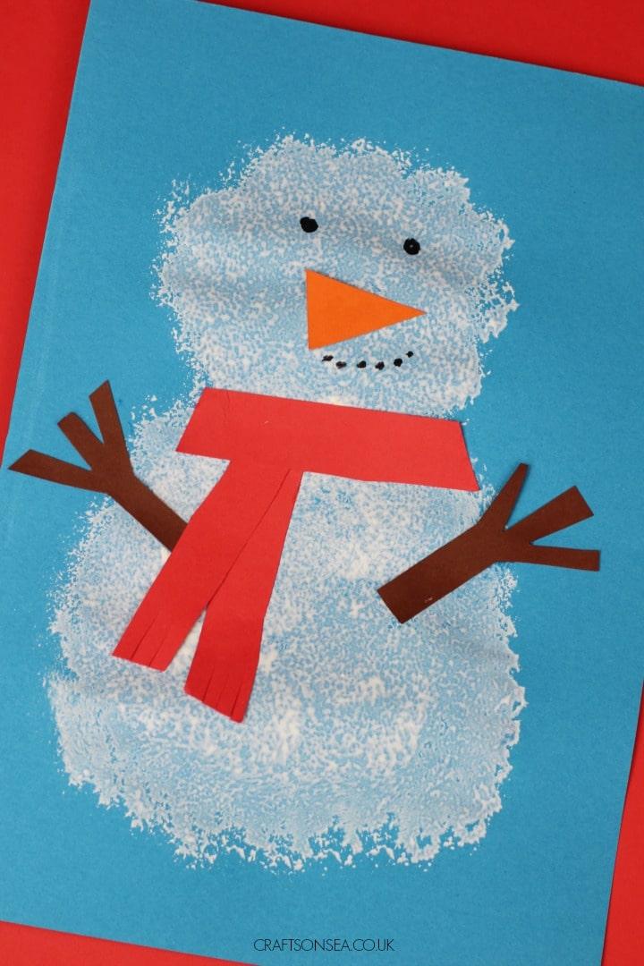 pom pom snowman craft ideas for for kids preschool toddlers