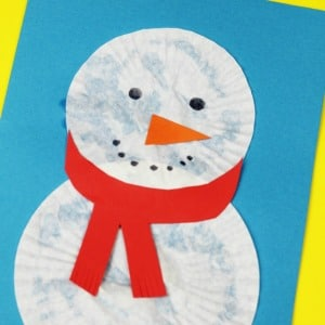 snowman christmas card for kids