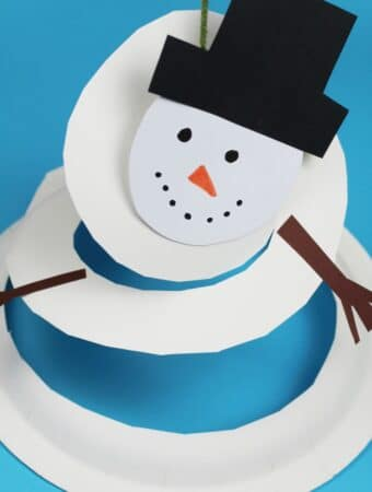 spinnning snowman paper plate craft
