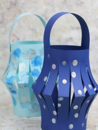 easy winter lantern craft for kids