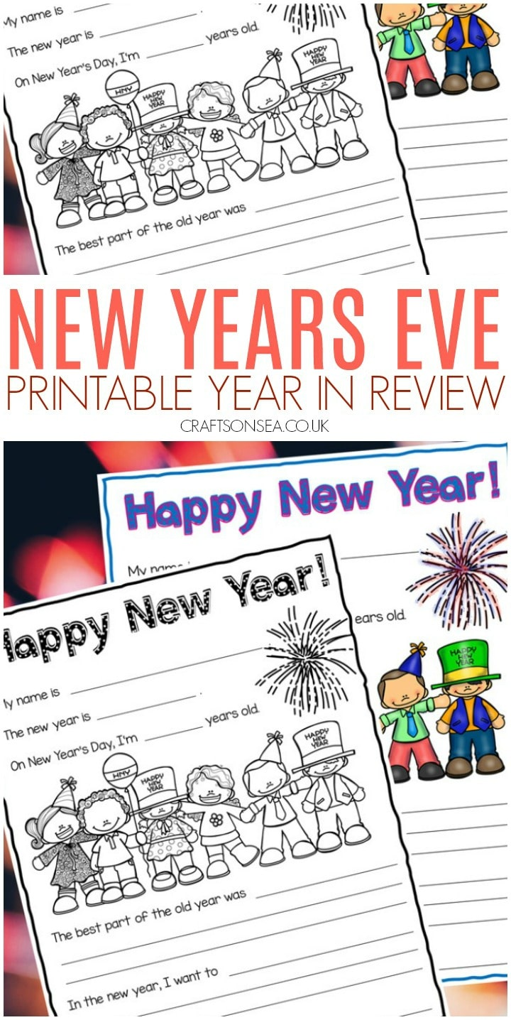 new years eve printable year in review for kids free