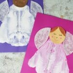 paint splat angel craft for kids to make