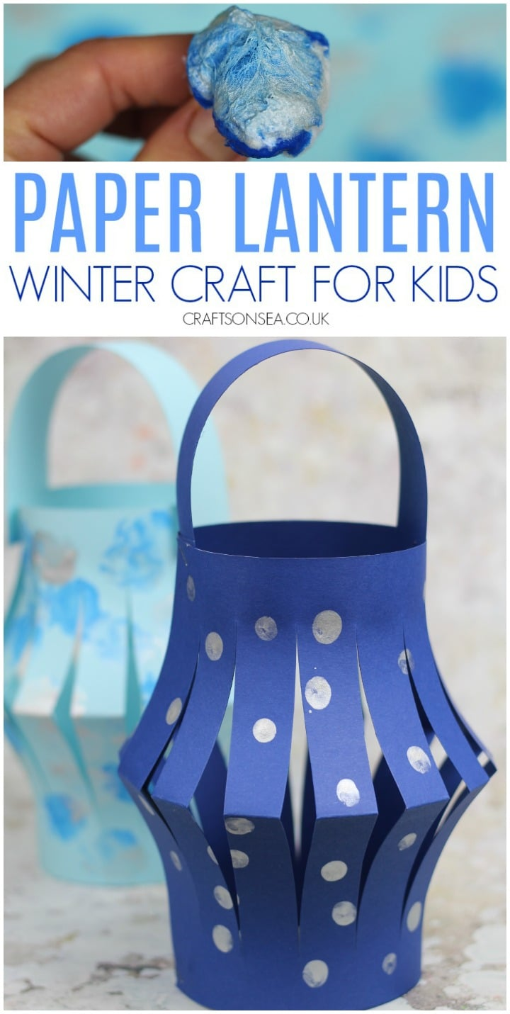 paper lantern easy winter craft for kids