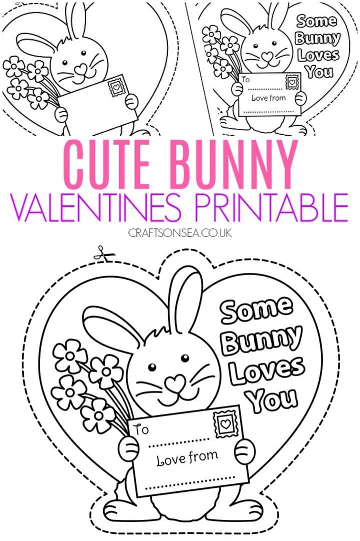 Cute Bunny Valentines Printable – Crafts on Sea