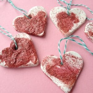 clay heart ornaments 300