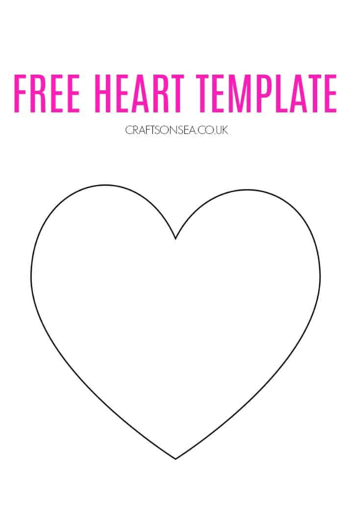 free heart template printable