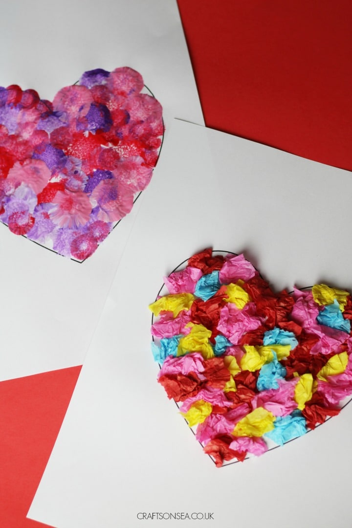 heart crafts for kids easy