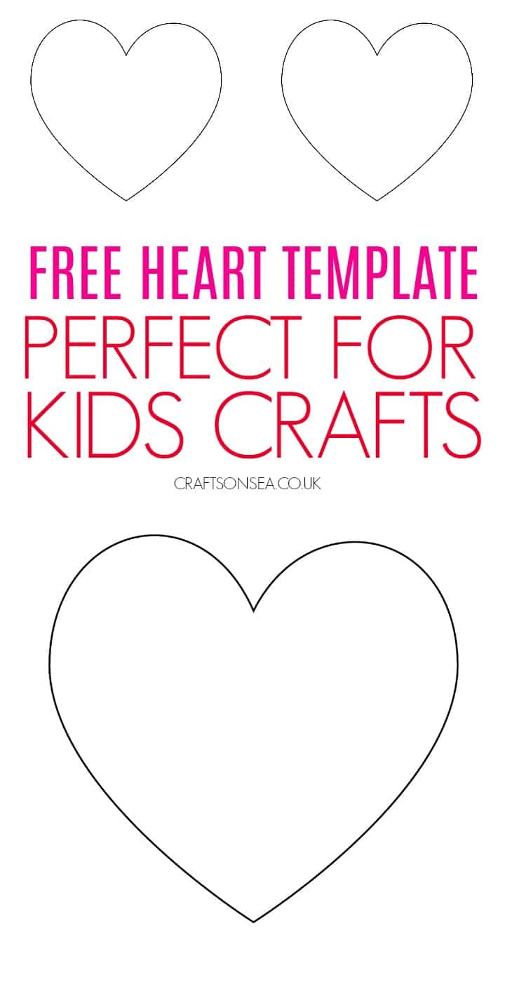 heart template printable free