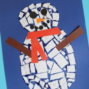 mosaic snowman