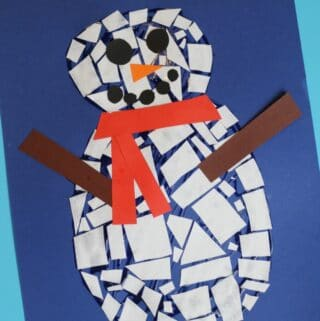 mosaic snowman craft for kids to make
