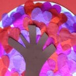 valentines heart tree craft for kids