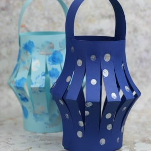 winter lantern craft