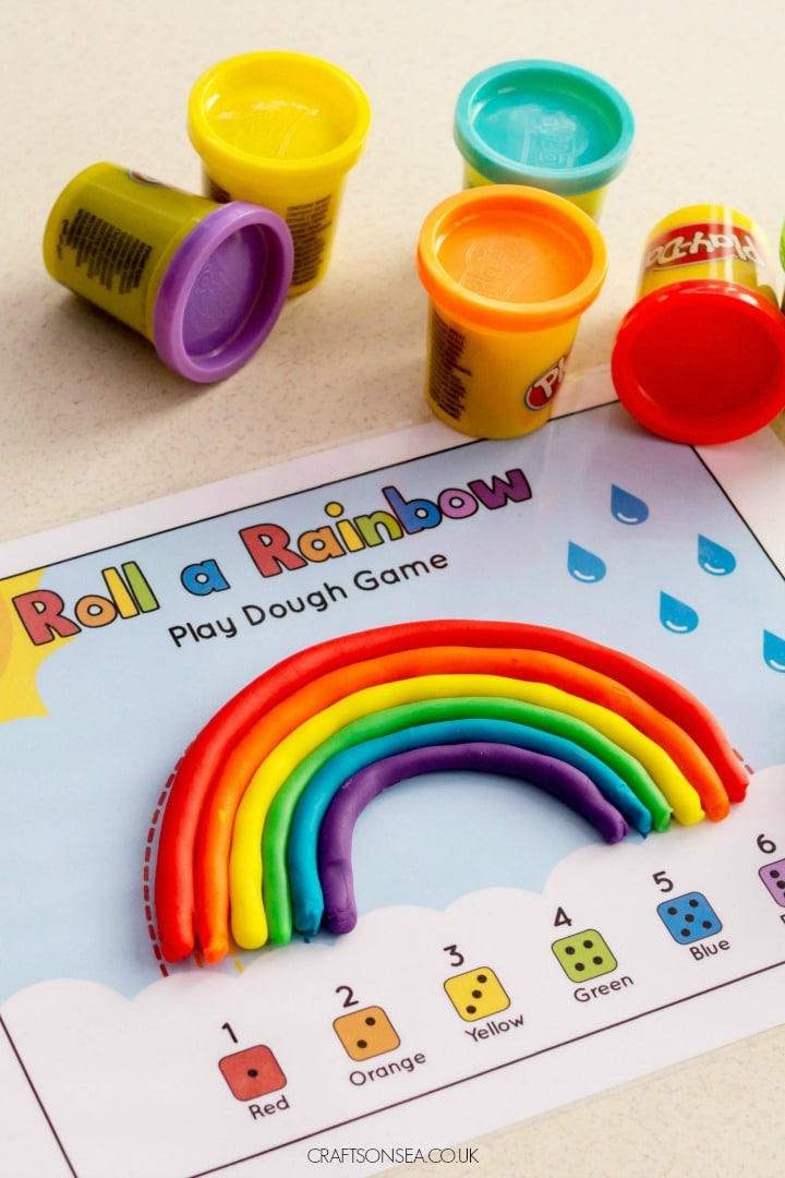 Rainbow Playdough Mat