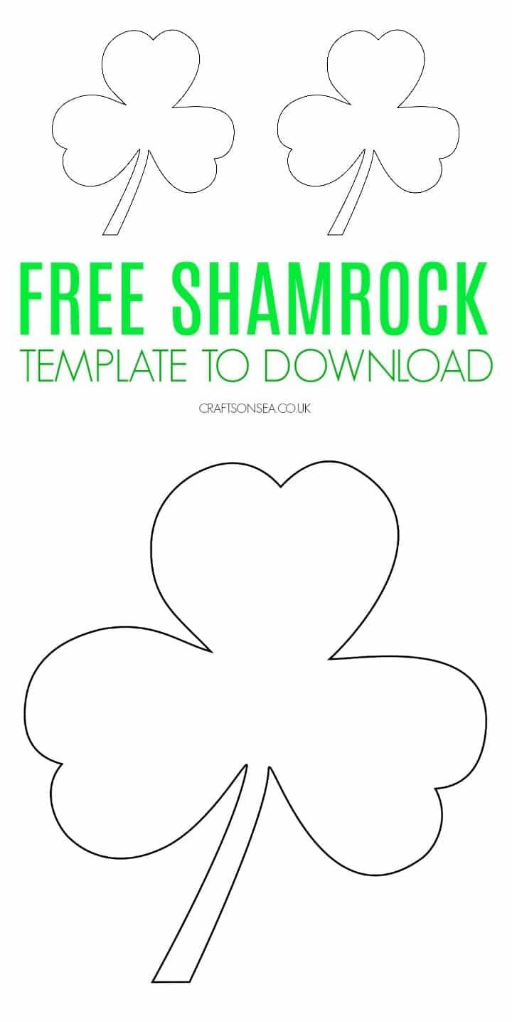 Shamrock template free printable